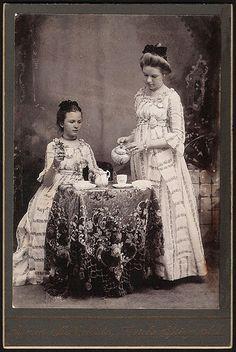 Ladies at tea, old school style.