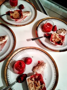 #farewell party event, desert: #strawberries in #crumble, #soup, #salad, #tiramisu, syrup and roasted!