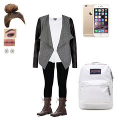 """Untitled #164"" by dajacarter22 ❤ liked on Polyvore featuring Topshop and JanSport"