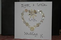 Lovely wedding card.  Hmmmmm.....maybe M could make this for J & B....
