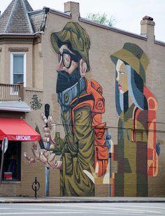Inkten + Clogtwo mural at 2400 W Main St, Richmond, VA