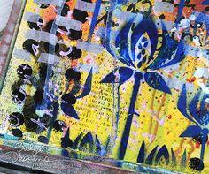 """""""Corn Flower"""" stencil by Balzer Designs!"""