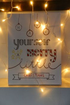 Christmas handlettering on canvas                                                                                                                                                                                 More