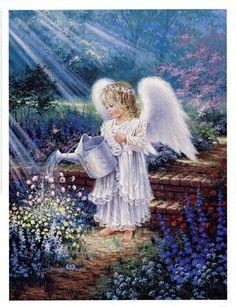 An Angel's Gift by Dona Gelsinger art print