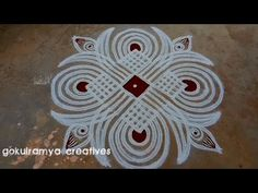 Simple Rangoli Border Designs, Rangoli Simple, Indian Rangoli Designs, Rangoli Borders, Small Rangoli Design, Rangoli Designs With Dots, Rangoli With Dots, Beautiful Rangoli Designs, Traditional Rangoli