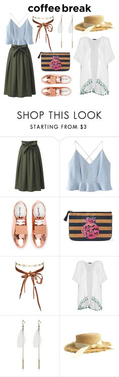 """""""coffe break"""" by nabilahnabill on Polyvore featuring Uniqlo, WithChic, Acne Studios, Draper James, Chan Luu and Boohoo"""