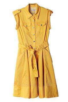 Classic Yellow Shirt Dress