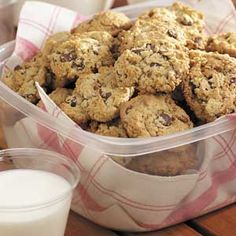Chocolate Chip Oatmeal Cookies (with walnuts!) -made with vanilla pudding  Perfect!
