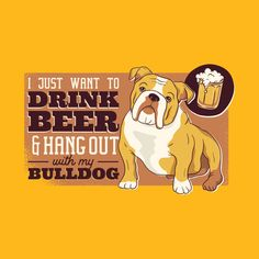 Hoodie MESS Drink Beer and Hang with My Valley Bulldog