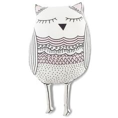 Whoo!  By Lil Pyar - a cutout pillow perfect for travel and resting with your little one. Oh, Whoo!