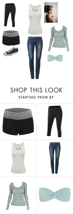 """""""Untitled #4558"""" by abigailloveschocolate ❤ liked on Polyvore featuring Doublju, Levi's, American Vintage, Norma Kamali and Converse"""