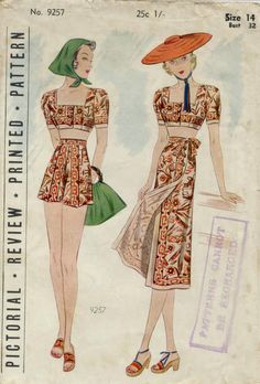 Pictorial Review pattern 9257, c. 1937