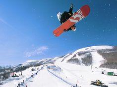 Twist snowboarding