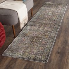 Shop for Safavieh Valencia Grey/ Multi Distressed Silky Polyester Rug (2'3 x 12'). Get free shipping at Overstock.com - Your Online Home Decor Outlet Store! Get 5% in rewards with Club O! - 17554819