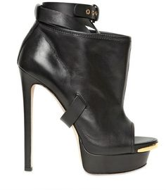 DSQUARED2 150mm Belted Leather Open Toe Boots - Lyst