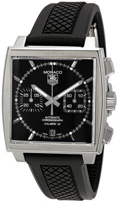 TAG Heuer Men's CAW2110.FT6021 Monaco Chronograph Watch, (watches, tag heuer, mens watch, automatic, carrera, chronograph, baume, titanium, leather banded, men watches), via https://myamzn.heroku.com/go/B005K7JGBW/TAG-Heuer-Mens-CAW2110-FT6021-Monaco-Chronograph-Watch
