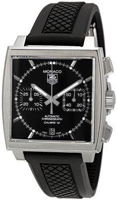 TAG Heuer Men's CAW2110.FT6021 Monaco Chronograph Watch, (watches, tag heuer, mens watch, automatic, carrera, chronograph, baume, titanium, leather banded, men watches), via https://myamzn.heroku.com/go/B005K7JGBW/TAG-Heuer-Mens-CAW2110-FT6021-Monaco-Chronograph-Watch