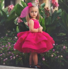 Lovely fushia Princess Flower Girls Dresses for Wedding Ruffle Satin Tulle Knee Length firls Pageant dresses Inexpensive Wedding Dresses, Affordable Bridesmaid Dresses, Dresses Kids Girl, Kids Outfits, Flower Girl Dresses, Flower Girls, Little Girl Fashion, Kids Fashion, Little Girl Gowns