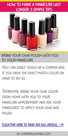 How to make a manicure last longer: 5 simple tips - Bring your own polish with you to your manicure