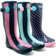 Women's Funky Rain Boots.....just in time for spring rain.