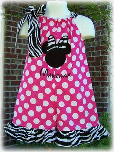 Custome boutique Minnie dress. I have to learn how to make this!!