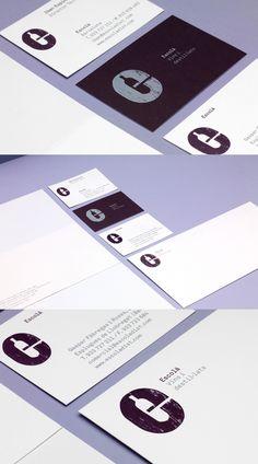 Escola's minimalist business card