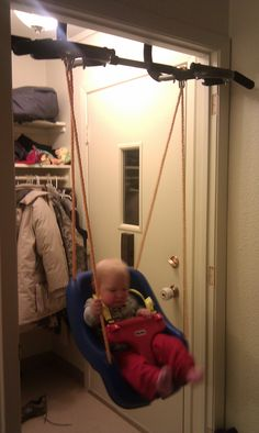 A Pull Up Bar With Swing Attached It Helps Living In Alaska Having Something