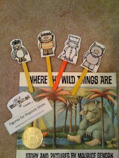 susan akins posted Where the Wild Things Are Stick Puppets (good for retelling) to their -Preschool items- postboard via the Juxtapost bookmarklet. Preschool Books, Preschool Printables, Kindergarten Literacy, Early Literacy, Preschool Ideas, Teaching Ideas, Reading Activities, Literacy Activities, Teaching Reading