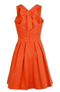 robe noeud ottoman orange SINEQUANONE