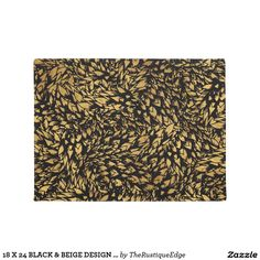 18 X 24 BLACK & BEIGE DESIGN DOOR MAT