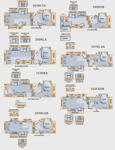Glendale Titanium Fifth Wheel Floorplans 8 Layouts