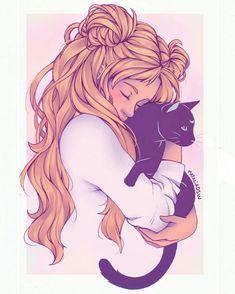 sailor-moon-rei: by nataliadsw Sailor Moon Luna, Sailor Moons, Sailor Moon Tumblr, Sailor Moon Fan Art, Sailor Uranus, Sailor Neptune, Sailor Moon Kristall, Sailor Moon Aesthetic, Sailor Moon Wallpaper