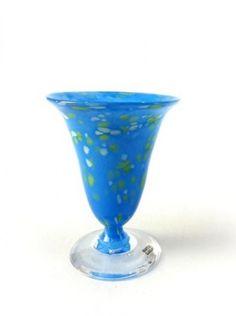 Små blå, glas Knapstad, www.bryggen.nl