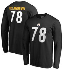 134680072b3 Alejandro Villanueva Pittsburgh Steelers NFL Pro Line by Fanatics Branded  Authentic Stack Name   Number Long Sleeve T-Shirt – Black