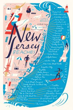 <p>Brooklyn based illustrator Libby VanderPloeg work comes out of her deep affinity for storytelling, music, letterforms, printed ephemera, and wildlife. I'm loving her beautiful maps series fea
