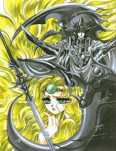 Magic Knight Rayearth: Zagato and Emeraude 01 - Minitokyo Old Anime, Anime Manga, Anime Art, Manga Artist, Comic Artist, Chibi, Magic Knight Rayearth, Xxxholic, Fanart