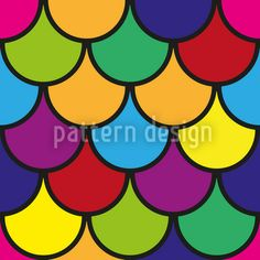 Vibrant Scales created by Jacqueline Schorn offered as a vector file on patterndesigns.com