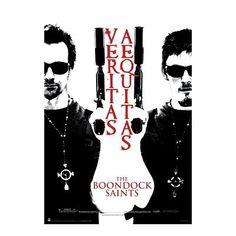 The Boondock Saints Movie (Veritas Aequitas B&W) Poster Print - 24x36 Poster Print 22x34 @ niftywarehouse.com
