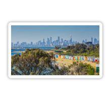The Bath Huts at Brighton Beach, Melbourne Sticker