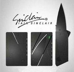 Canivete Cartão Iain Sinclair Super Secreto