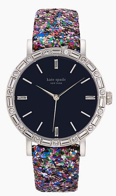 Gorgeous kate spade pave watch with interchangeable straps - take 30% off with code:  F14FFUS http://rstyle.me/n/rtqzmnyg6