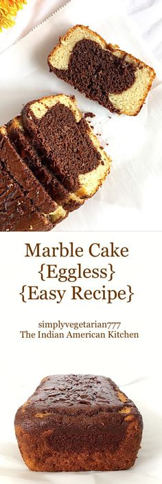 Eggless Marble Cake is a perfect cake to enjoy with family and friends. It is easy to bake with readily available ingredients. It is rich, super moist and soft. Eggless Desserts, Eggless Recipes, Eggless Baking, Baking Recipes, Vanilla Desserts, Milk Recipes, Top Recipes, Baking Ideas, Free Recipes
