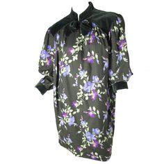 Yves Saint Laurent Rive Gauche Floral Sack Dress 1980