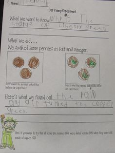 This is a social studies activity for 2nd and 3rd grades. This is a useful pages because it shows how this teacher ties in science with history. The students will perform experiments and use discussions in oder for them to learn why the Statue of Liberty is green.