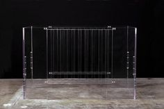 This clear acrylic crib by Nurseryworks is the perfect showcase for amazing bedding and a cool Nook mattress Modern Baby Cribs, Baby Nursery Decor, Babies Nursery, Project Nursery, Nursery Ideas, Baby Room, Room Ideas, Nursery Works, Cool Beds