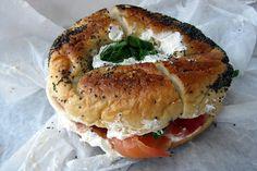 "dietkiller: "" NYC - Battery Park: Hudson Eats - Black Seed Bagels by wallyg on Flickr. """