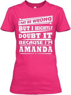 Best T Shirt Name Amanda!! Heliconia Women's T-Shirt Front