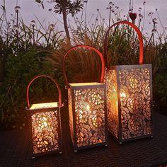 Hurricane lanterns.