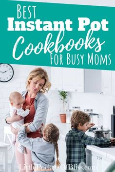 Struggling with what to make for dinner AGAIN? It's time to grab that Instant Pot and check out the best Instant Pot cookbooks for busy moms! Instant Pot Recipe Books, Gina Homolka, Best Cookbooks, Pulled Pork Recipes, Easy Meals For Kids, What To Make, Kid Friendly Meals, Kids And Parenting, Teaching Kids