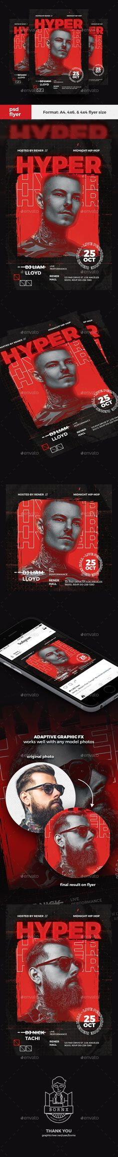 Buy Hip Hop DJ Flyer by bornx on GraphicRiver. DESCRIPTION Hip Hop DJ Flyer – Hip Hop DJ flyer template for Photoshop, perfect to promote your hip hop concert or pa. Psd Flyer Templates, Powerpoint Presentation Templates, Hip Hop Dj, Hip Hop Party, Halloween Flyer, Photoshop, Hip Hop Artists, Partys, Color Effect